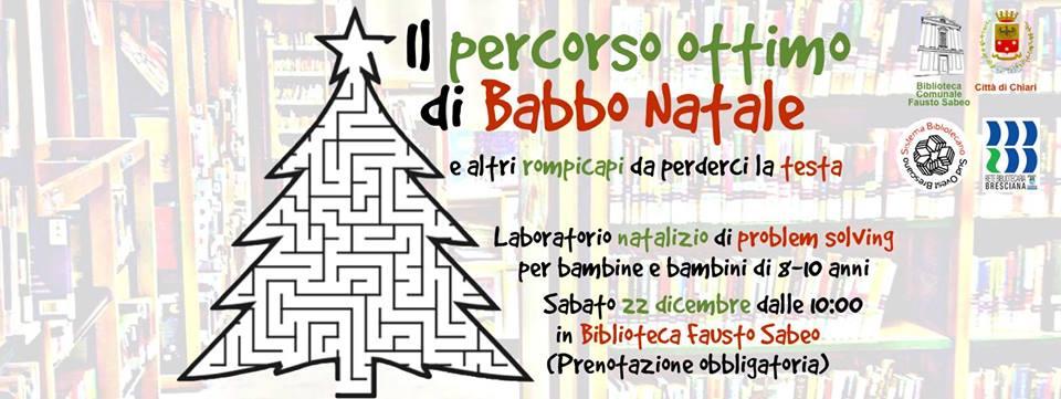 Percorso Babbo Natale.Percorso Ottimo Di Babbo Natale Rete Bibliotecaria Bresciana E